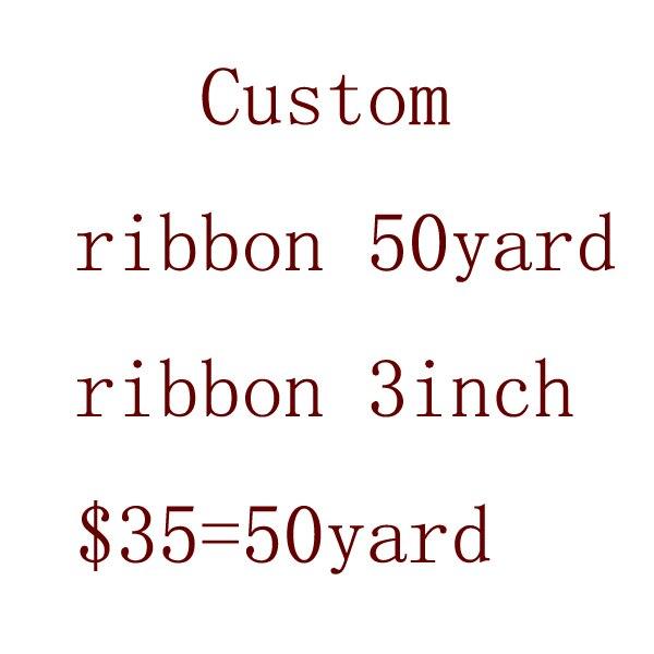 Free shipping 3inch 50yard lot cartoon exclusive print grosgrain ribbon custom