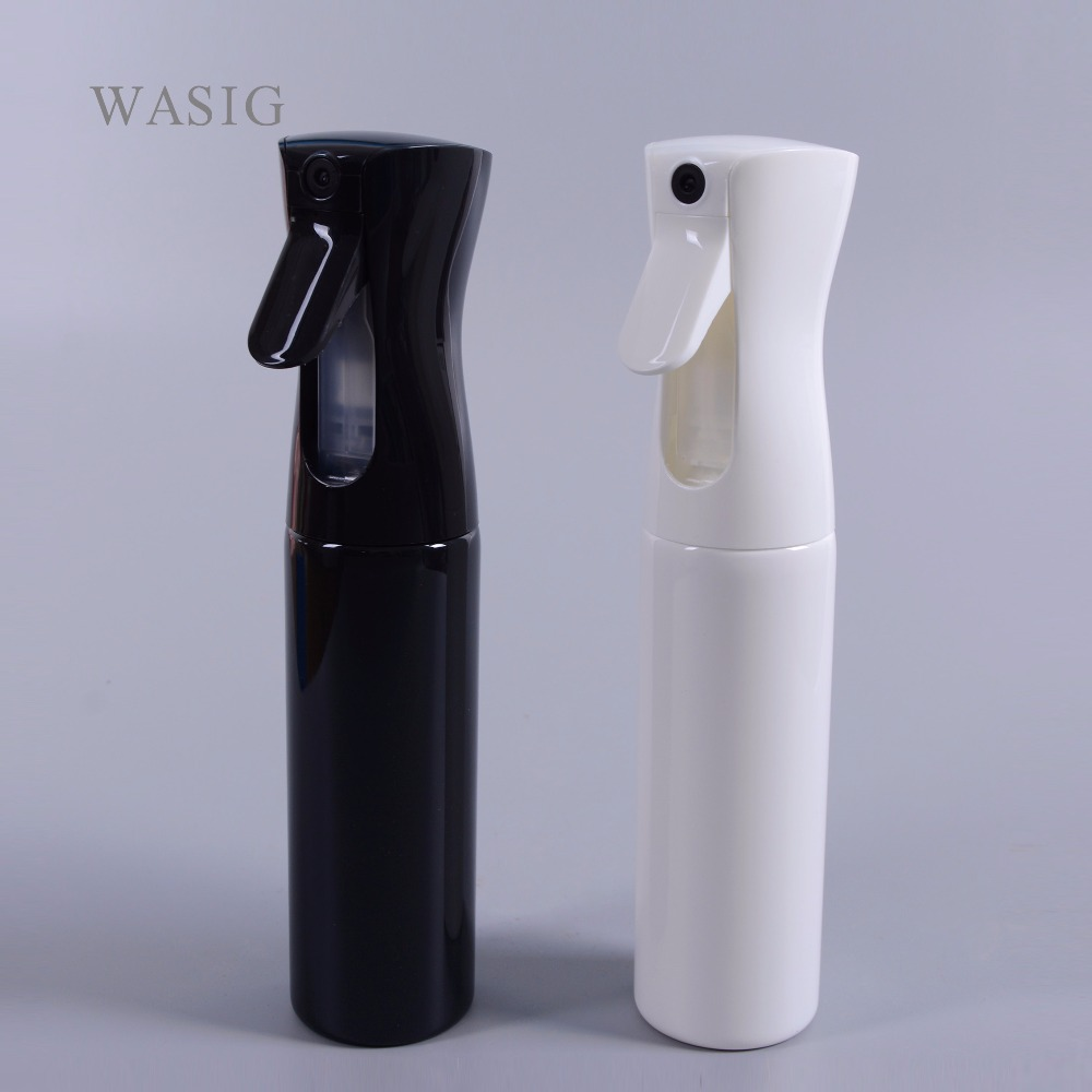 300ml Pro Hair Salon Water Spray Empty Bottle Black Refillable Mist Perfume Atomizer With Button Hydrating Styling Care Tools
