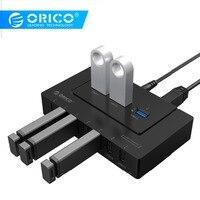 ORICO USB 2,0/3,0 концентратор 10 портов USB концентратор 5 Гбит/с Мощность высокоскоростной адаптер Splitter адаптер для ПК LaptopNotebook-черный