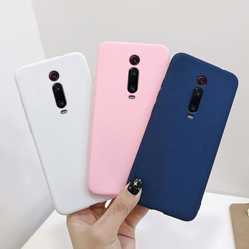 Case For Xiaomi Mi 9T Pro Redmi K20 7A Solid Candy Color Silicone Case For Xiaomi Redmi K20 Pro Cute Tpu Phone Back Cover Coque