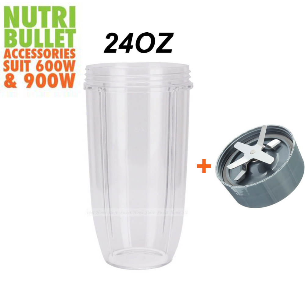 New COLOSSAL CUP 24OZ Extraction Blade Replacement Parts For Nutribullet Nutri Bullet Replacement 600W 900W