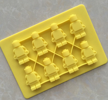 Lego Toy Shape Silicone Fondant Chocolate Mould