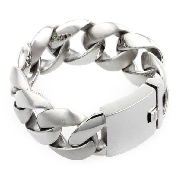 MB 590 Men Heavy Link Bracelet 24CM Width 3.15CM 316L Stainless Steel Jewlery Men Gift Jewelry Dragon Bangle,Fahion, modern,