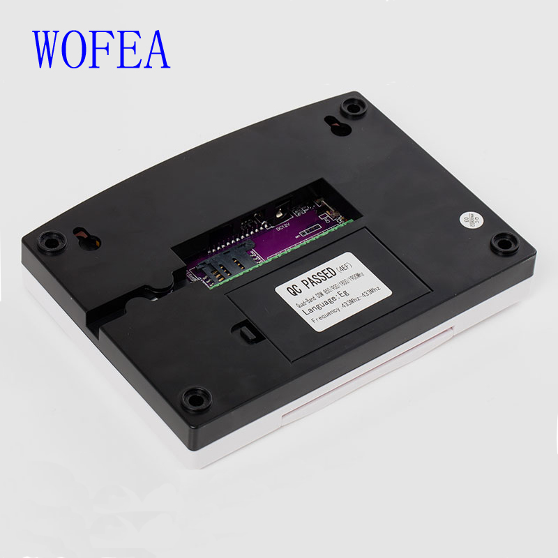 WOFEA Russian English Spanish France voice  Smart Home Security GSM Alarm System Remote Control by SMS & Calling with LCD keypad 20