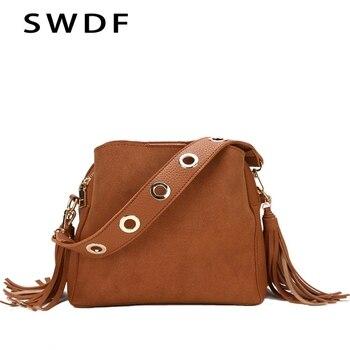 f713a3512 SWDF nueva marca 2019 de moda de las mujeres de bolso de mensajero bolsa de  alta calidad Retro, bolso de hombro bolsas