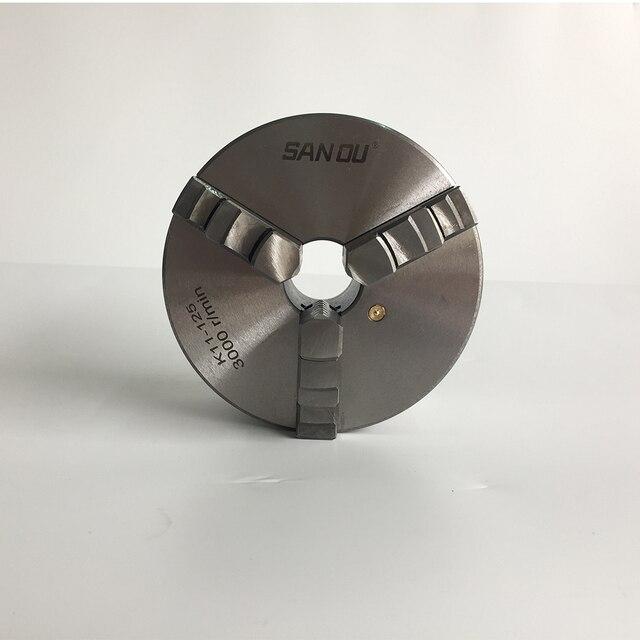 Mandrin de tour K11-125 trois mâchoires mandrin auto-centrant 125mm 5 pouce mâchoire avec acier durci pour mini tour