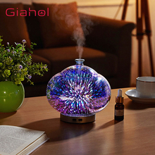 Essential Aroma Diffusor Ultrasonic Air Humidifier 3D Fireworks LED Night Light Oil Diffuser Humidificador Anion Mist Maker