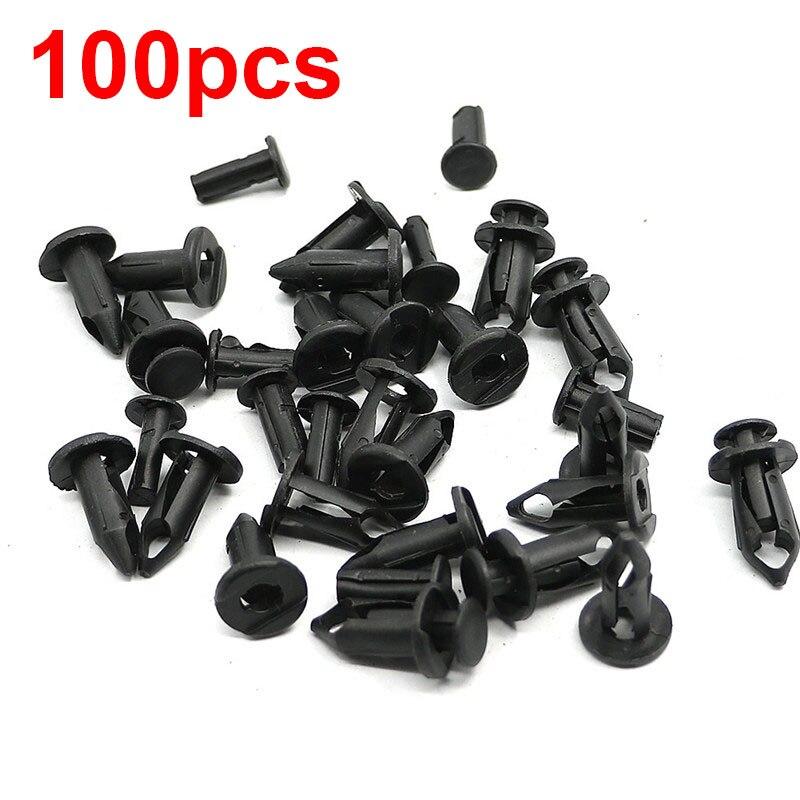 100pcs ATV 8mm Rivet Fairing Body Trim Panel Fastener Screw Clips Plug Kit For Polaris Sportsman 550 850 XP Rangers Rzr