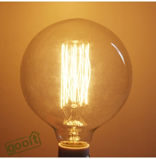 220V Incandescent Vintage decoration indoor light lamp E27 40W Retro Edison Style Light  G125 tungsten lamp Wholesale Price