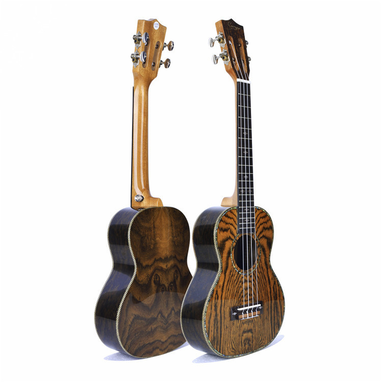 26 inch Caidie Wood Ukulele Rosewood Fingerboard High-gloss Hawaii Uklele With Belt/Tuner ...