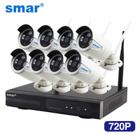 SMAR And Play 4CH CCTV System Wireless NVR Kit P2P Cloud View 2pcs 720P HD Outdoor