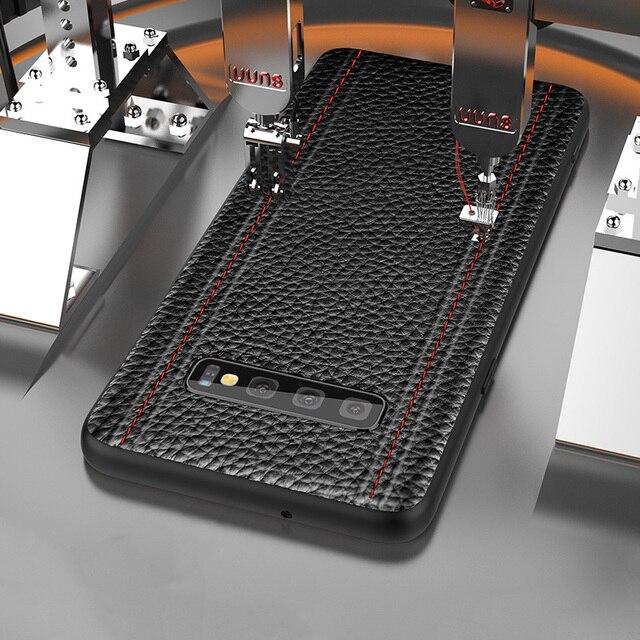 Étui pour samsung de luxe en cuir véritable S10 PLUS S10 S10E S10Lite