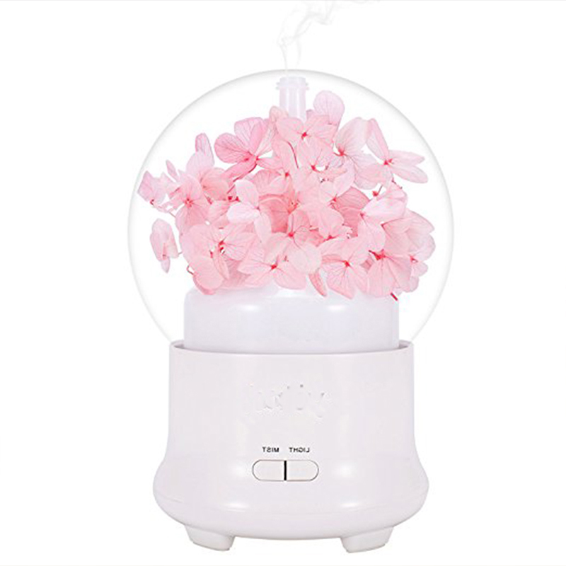 100ML Ultrasonic Cool Mist Maker Aromatherapy Air Humidifier Aroma Essential Oil Diffuser With 7 Color LED Lights For Home