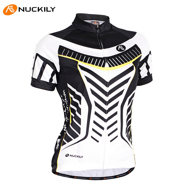 NUCKILY Original Wholesale Soft Comfortable Sport Wicking Short Sleeve T-Shirt  UV Resistant Female Bike Bicycle Cycling Jerseys 066b494a8