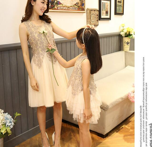 Summer mother daughter dresses lace mother and daughter for Mother daughter dresses for weddings