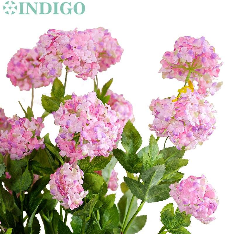 ᐂindigo 5 Pcs Fleur D Hortensia Fleurs Artificielles De Mariage