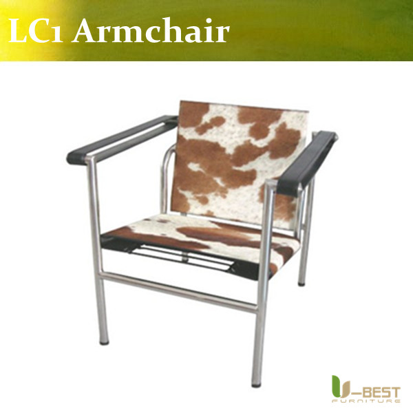 U-BEST modern cowhide Le Corbusier LC1 Sling chair,living room lounge chair le corbusier the city of tomorrow pr only