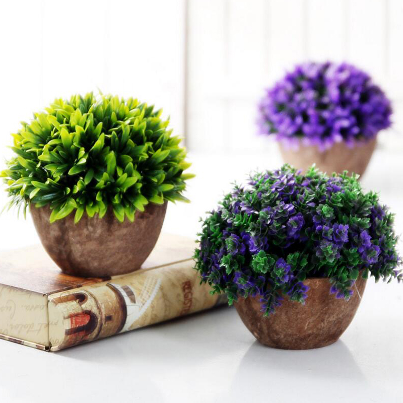 Artificial plants vase set plastic plants bonsai for Artificial trees for home decoration