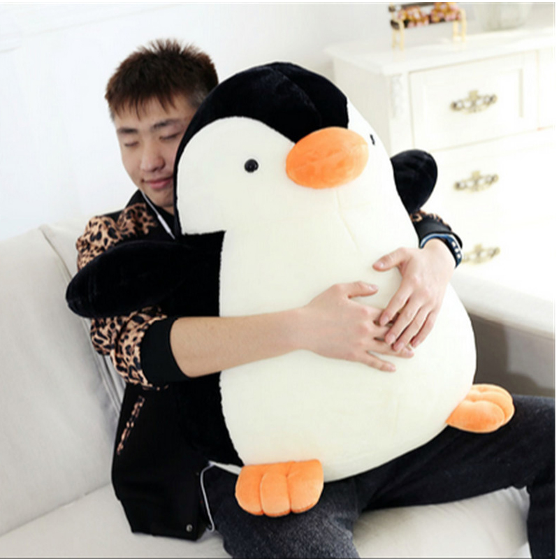 Fancytrader Soft Plush Polar Penguin Toys Giant Stuffed Animal Penguins Doll 70cm 28inches Nice Kids Gifts Real Pictures fancytrader real pictures 39 100cm giant stuffed cute soft plush monkey nice baby gift free shipping ft50572