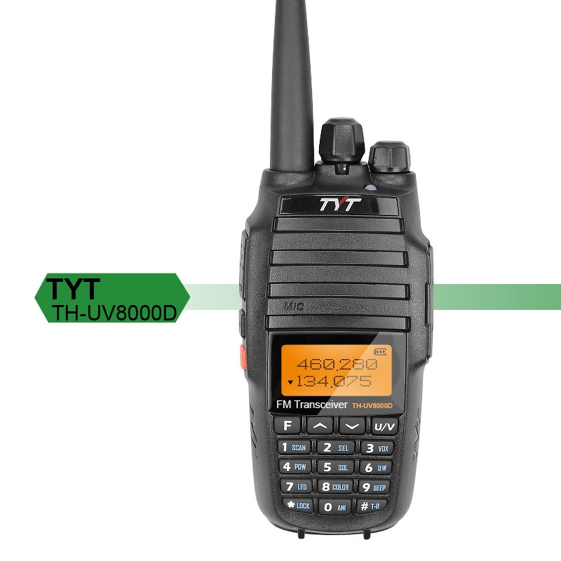 10km TYT TH UV8000D Walkie Talkie Amateur VHF UHF Dual Band 10W Two Way Radio Handheld