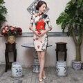 Free shipping Half Sleeve Dress Modern Qipao Cheongsam national trend chinese style dresses Vintage chinese dress