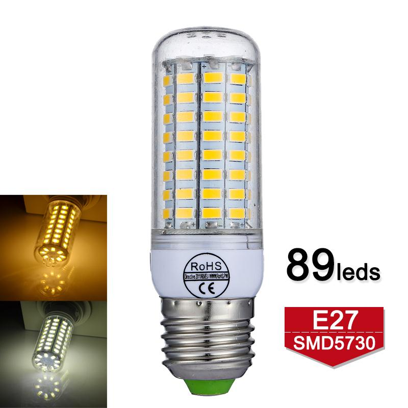 E27 LED Light 89LEDs SMD5730 Led Bulb 220V 240V No Flickering Smart IC 360 Degree Lamp for Home Decor Corn Light Warm/Cold White ...