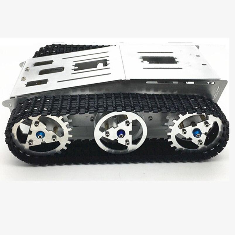 Châssis de réservoir Intelligent voiture intelligente châssis sur chenilles véhicule sur chenilles réservoir véhicule réservoir Robot moteur en métal