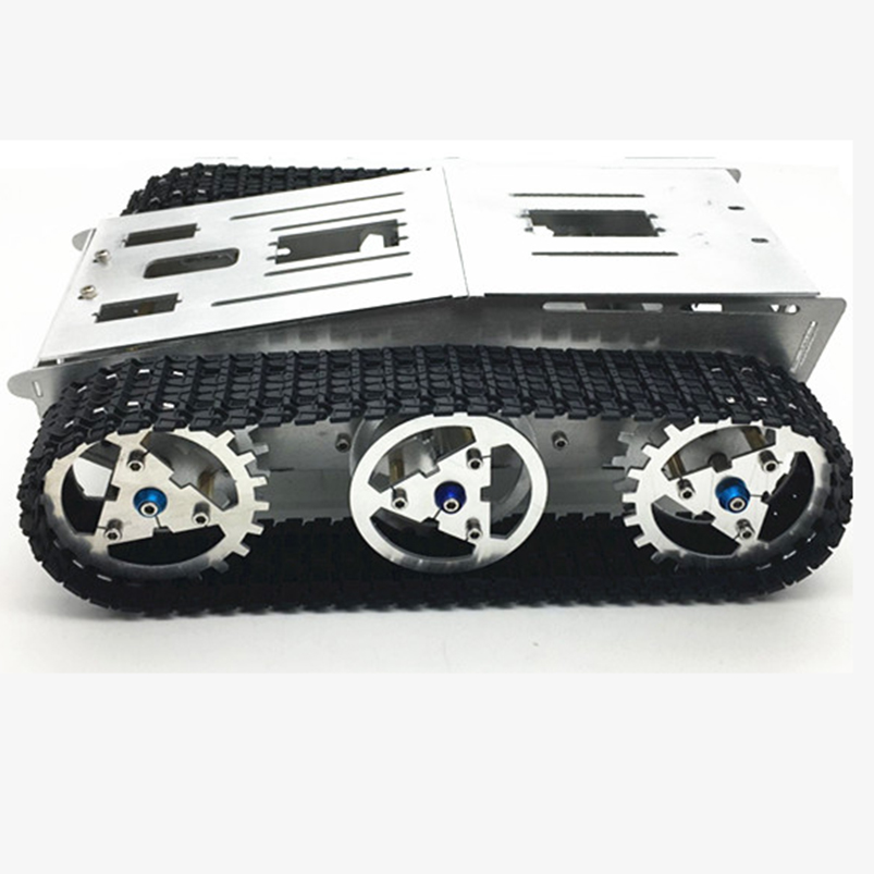 Tank Chassis Smart Intelligent Car Crawler Chassis Crawler Vehicle Tank Vehicle Tank Robot Metal Motor diy tracked vehicle robot obstacle crossing chassis smart tank car