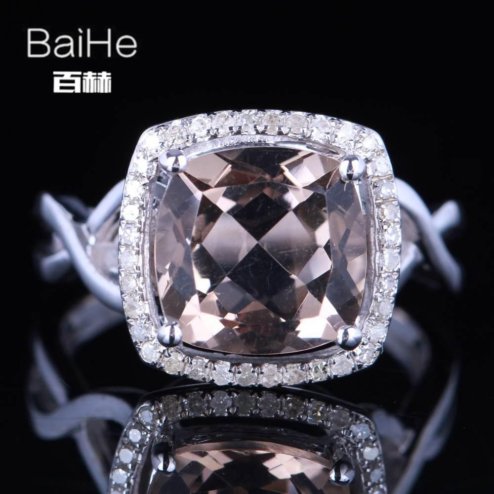BAIHE Solid 14K White Gold(AU585) 3.26CT Certified H/SI Round Cut Genuine Smokey Quartz Wedding Women Trendy Fine Jewelry Ring BAIHE Solid 14K White Gold(AU585) 3.26CT Certified H/SI Round Cut Genuine Smokey Quartz Wedding Women Trendy Fine Jewelry Ring