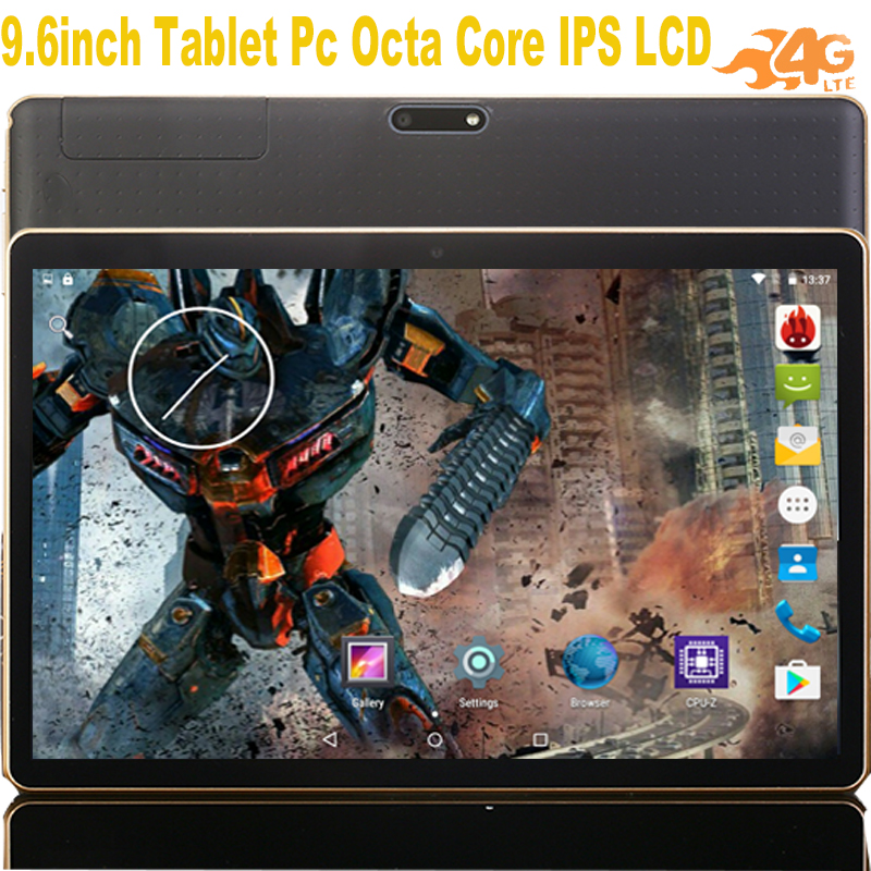 Newest Phablet 3G 4G Lte 9.6 Inch Android Tablet Support Call Dual SIM 16GB RAM Octa Core 1280*800 IPS Tablette 9.6 +gift
