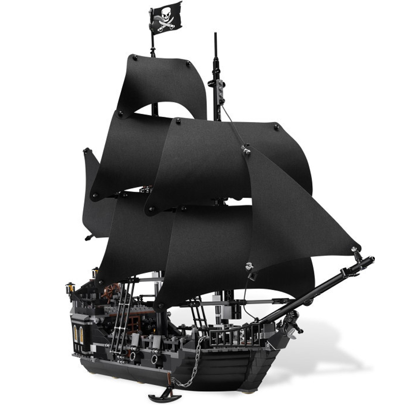 New LEPIN 16006 Pirates of The Caribbean The Black Pearl Building Blocks 4184 Creative Educational Toy For Children Toys Gifts lepin 22001 imperial warships 16006 black pearl ship model building blocks for children pirates series toys clone 10210 4184