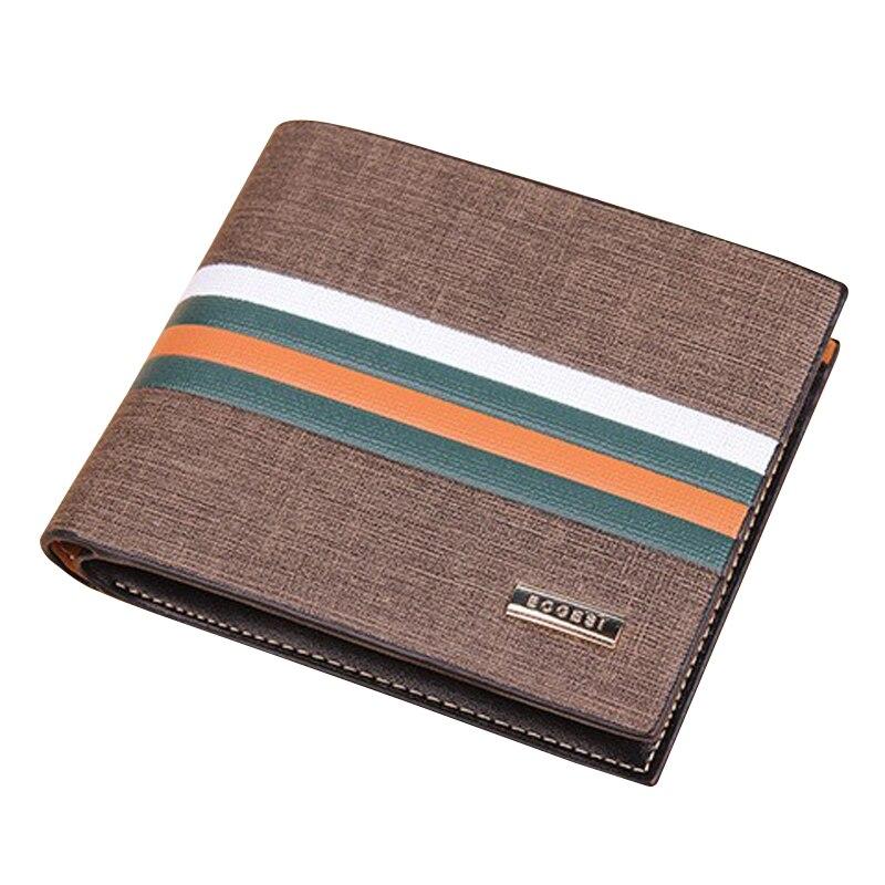 Wallet Purse Credit-Card-Holder Short Tri-Fold Designer Male Men's Man Striped for New-Arrival