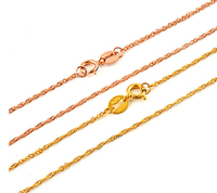 CHRISTMAS GIFT Fine Jewelry Rose Gold Necklace Unique Chain