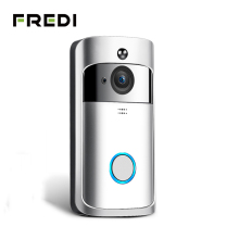 цена на FREDI Wireless WiFi Video Doorbell Camera 720P Ring Door Bell Video IP Camera Intercom Two Way Audio APP Control IR Night Vision