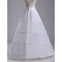 Abbille 2017 Giá Rẻ Bán Buôn Trắng Dài Bóng Gown Wedding Petticoat Dài Wedding Hot Phụ Kiện Thời Trang váy cho người lớn