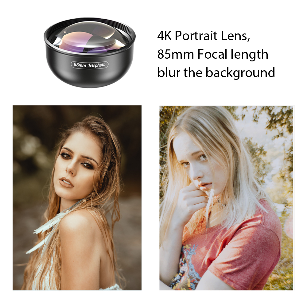 Image 2 - APEXEL Optic Pro Lens, 85mm 3X HD Telephoto Lens professional portrait  Lens, No Dark Circle for Samsung huawei Xiaomi cellphone-in Mobile Phone Lens from Cellphones & Telecommunications