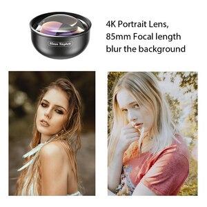 Image 2 - APEXEL Optic Pro Objektiv, 85mm 3X HD Teleobjektiv professionelle porträt Objektiv, keine Dunklen Kreis für Samsung huawei Xiaomi handy