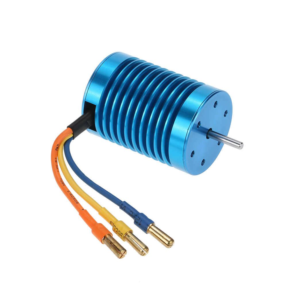 Nuevo 3650 3300KV/4 P Motor sin escobillas y 45A sin escobillas ESC y conjunto combinado de tarjeta de programación LED para 1/10 RC Coche