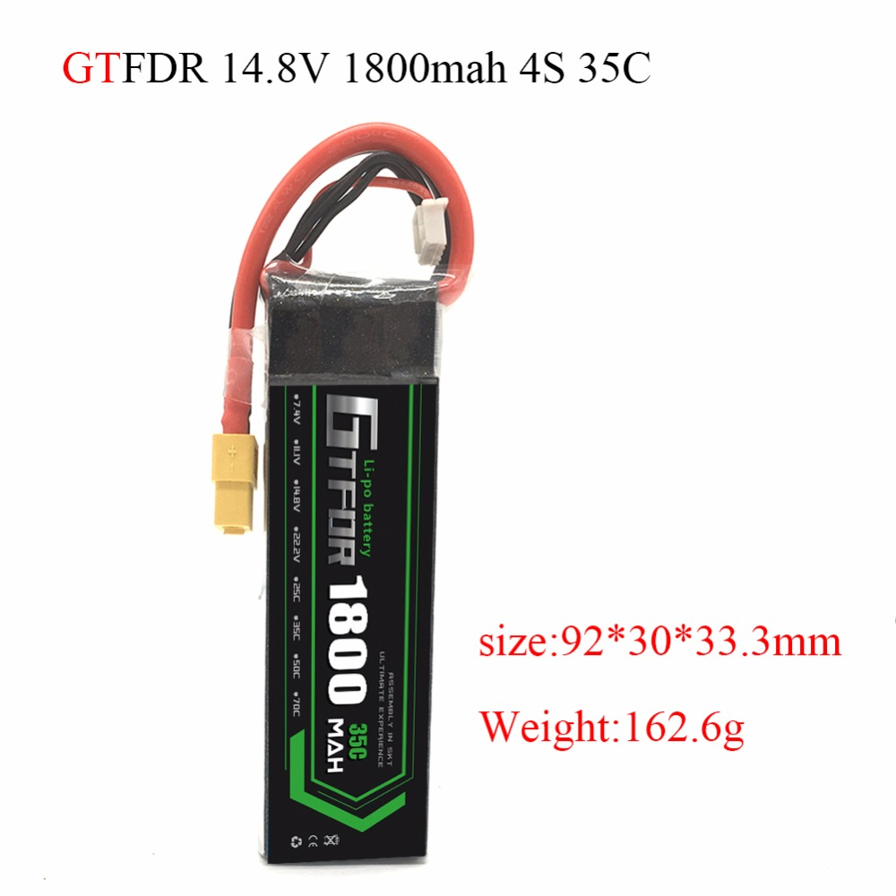GTFDR <font><b>Lipo</b></font> Battery 14.8V <font><b>1800mAh</b></font> 35C max70C <font><b>3S</b></font> Akku Packs Accumulators RC <font><b>Lipo</b></font> Batteria Helicopter Quadcopter fpv rc car image