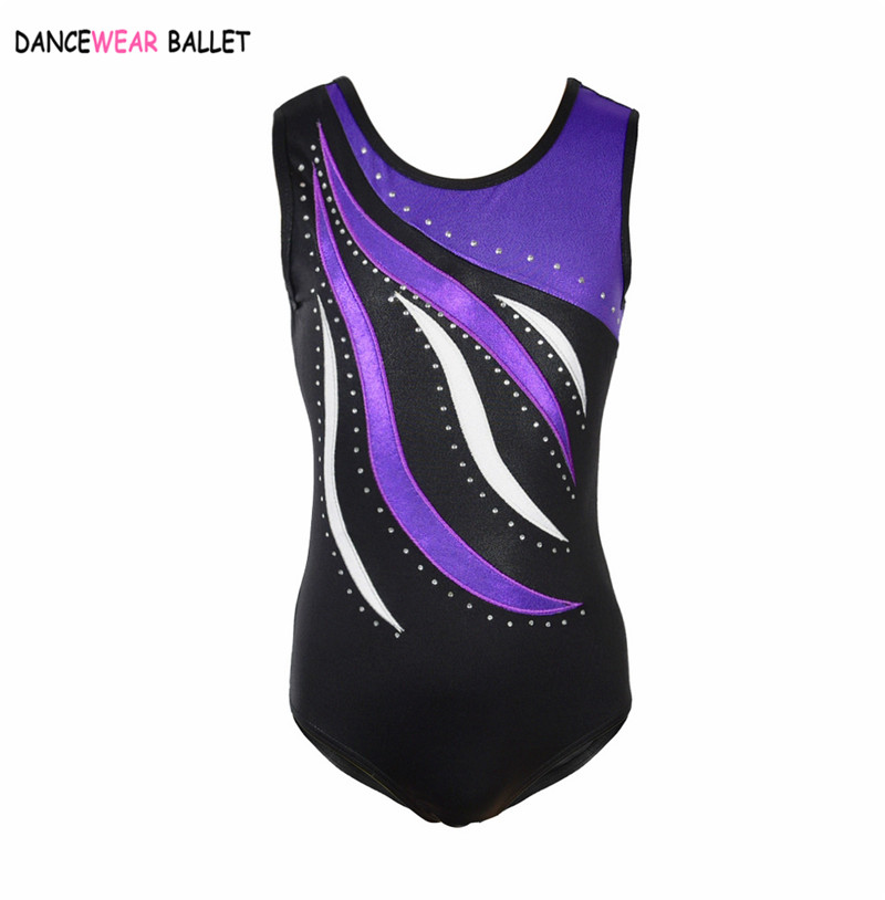 Image 2 - Rhythmic Gymnastic Leotard Girls Shiny Metallic With Rhinestone Kids Toddler Dance Ballet Leotard Dress Long Sleeve Gym Leotard-in Ballet from Novelty & Special Use
