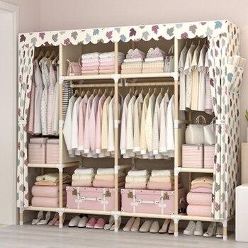 Modern Wooden Wardrobe chambre a coucher Storage Cabinet Home Bedroom Furniture armario de tela plegable Wardrobe Cabinet armario de plastico para ropa