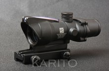 Tactical hunting scope trijicon acog style real red fiber optics 4x32 Rifle Scope waterproof M1390(China)