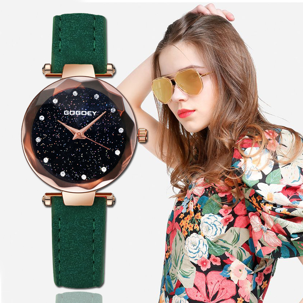 Gogoey Women's Watches 2018 Luxury Starry Sky Wrist Watch Top Brand Ladies Watches For Women Rhinestone Relogio Feminino Saat women watches neutral personality simple analog wrist dropship unique hollow watch luxury business watches relogio feminino saat