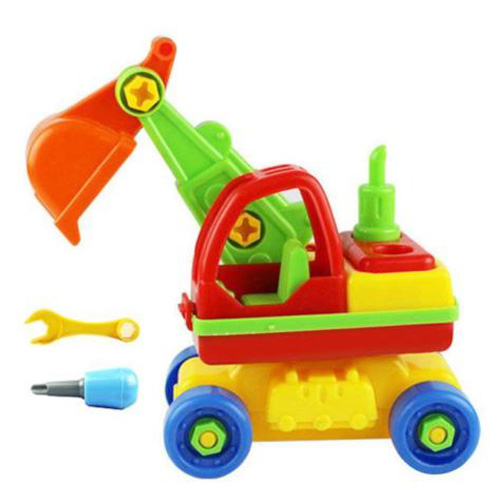 ABWE Child Baby Disassembly Assembly Cartoon Car Toy Kids Xmas Gift New Model:Excavator