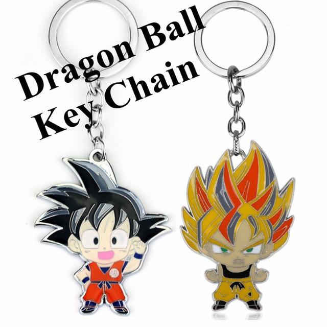 hot sale online 4e098 d0405 Cartoon Anime Dragon Ball Z Son Goku Pendant Keychain Key Chain Metal Key  Holder Chaveiro For Men Women Fans Key Ring Llaveros