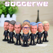 14PCS + Display Box Soccer Football Coach Figurine 2.5 Action Doll Classic version The fans GIFT 14pcs lot european champions league soccer star lovely action figures model toys fans collection football dolls gift 2019