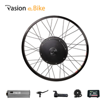 цена на Pasion eBike Electric Bicycle Conversion Kit 1500W V-Brake E Bike Rear Wheel Kit 26inch Electric Bike Kit 1500W 48V Motor Wheel