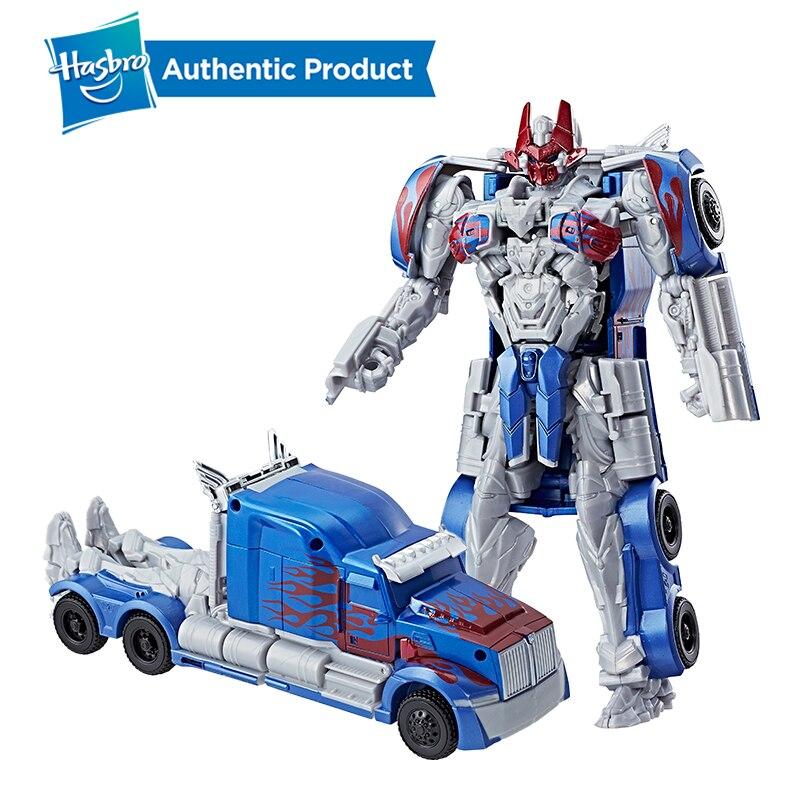 Hasbro transformateurs le dernier chevalier chevalier armure Turbo changeur Optimus Prime cliquet Autobots modèle jouets 8 pouces âges 6 et plus