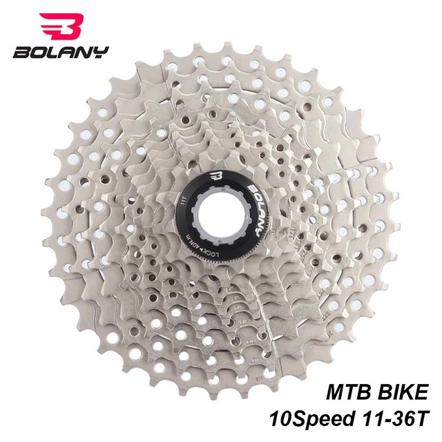 US $24 2 10% OFF|BOLANY 10 Speed Cassette Freewheel Gear Ratio 11 36T MTB  Mountain Bike Sprocket Bicycle Accessories For Shimano Cassettes-in Bicycle
