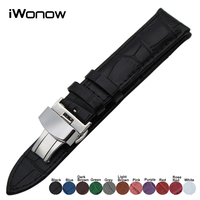 Genuine Leather Watch Band For Casio Seiko Citizen Diesel Fossil Stainless Steel Clasp Wrist Strap 18mm